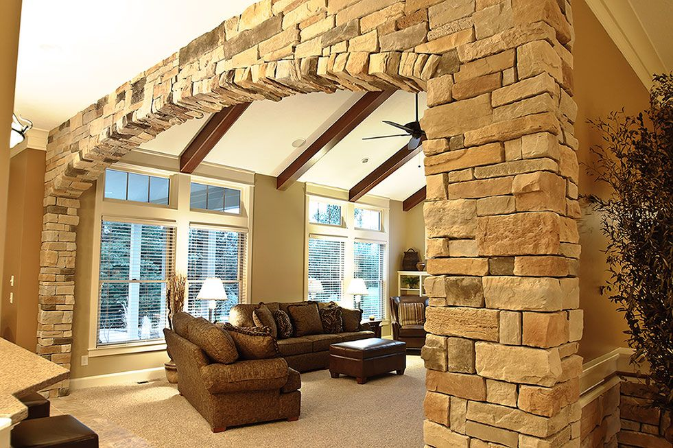 Weather Ledge Stone Interior Wall Arch Natural Blend