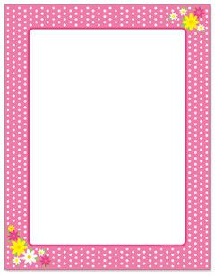designer paper pink polka dots 50 sheet package borders