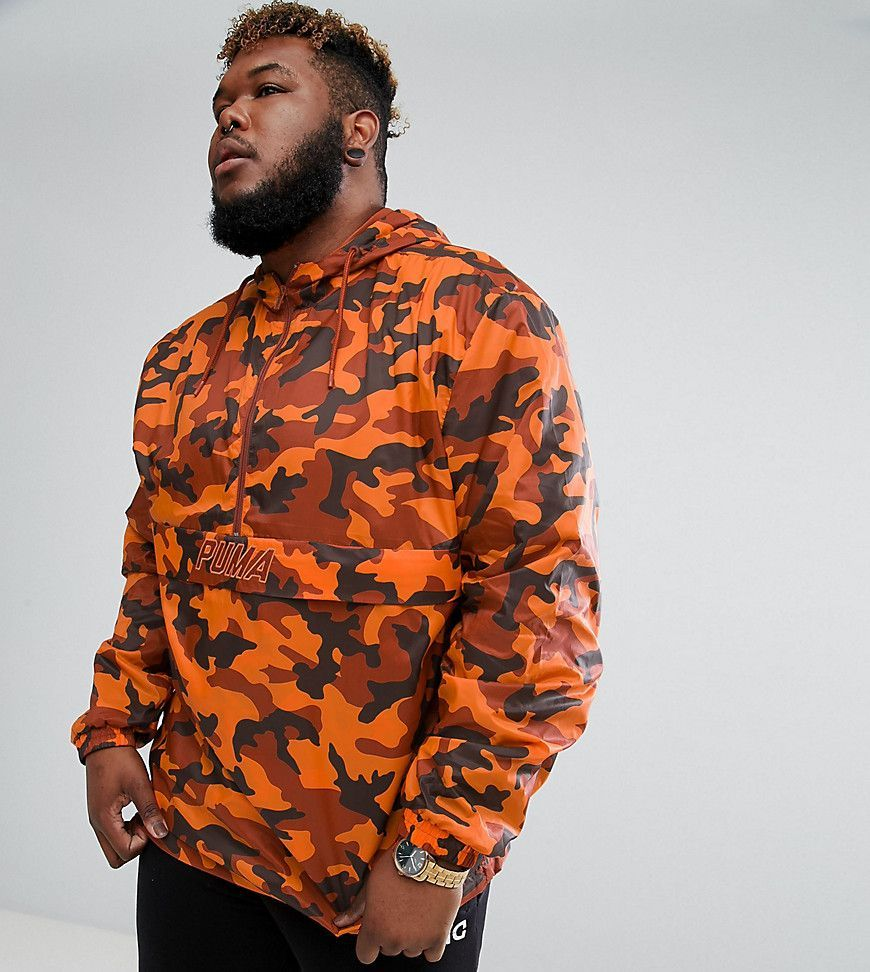 eafcf39a00c4 Puma PLUS Pullover Windbreaker In Camo Print In Orange Exclusive to ...