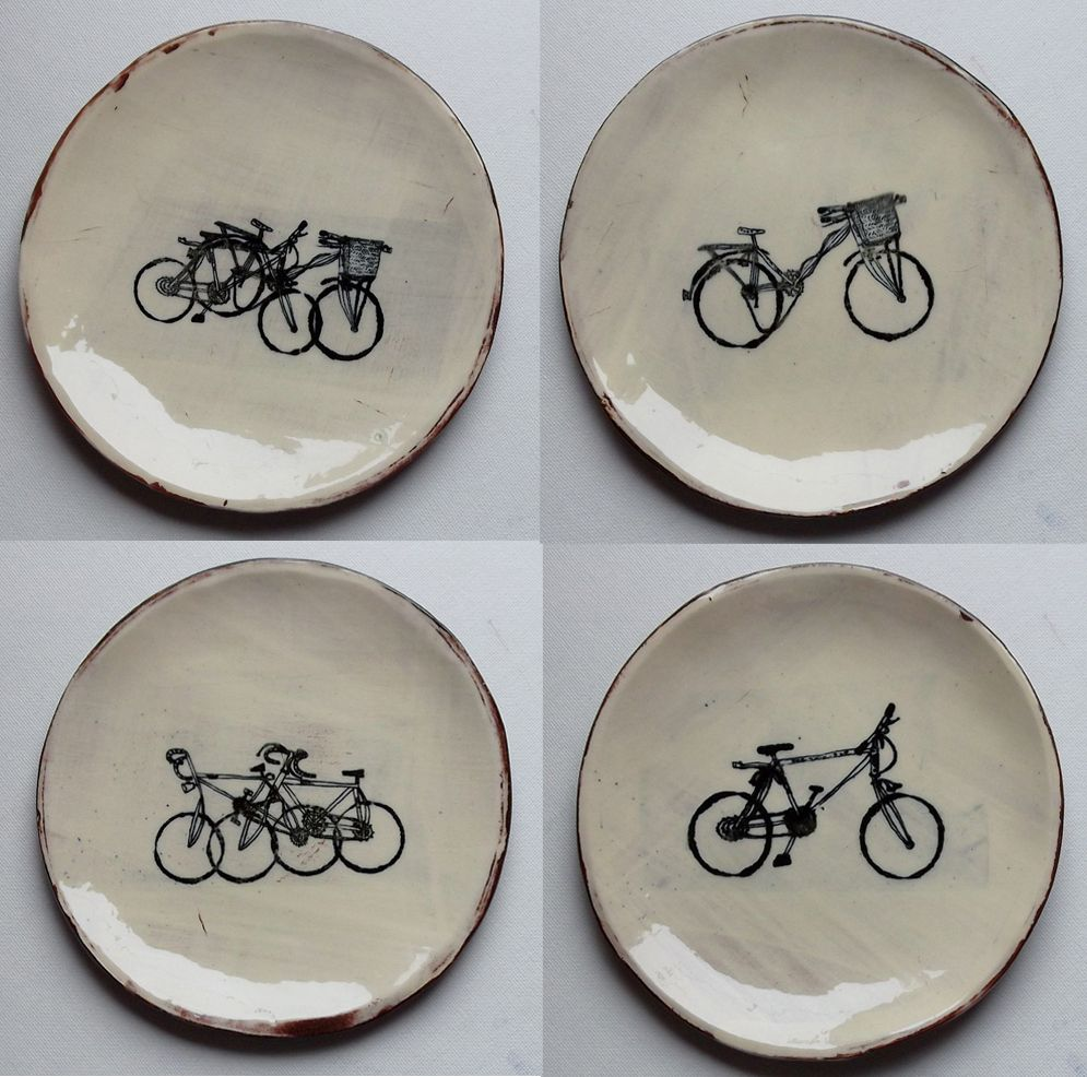 beautiful ceramics by Marit Ammerud with illustrations by Adam Larkum