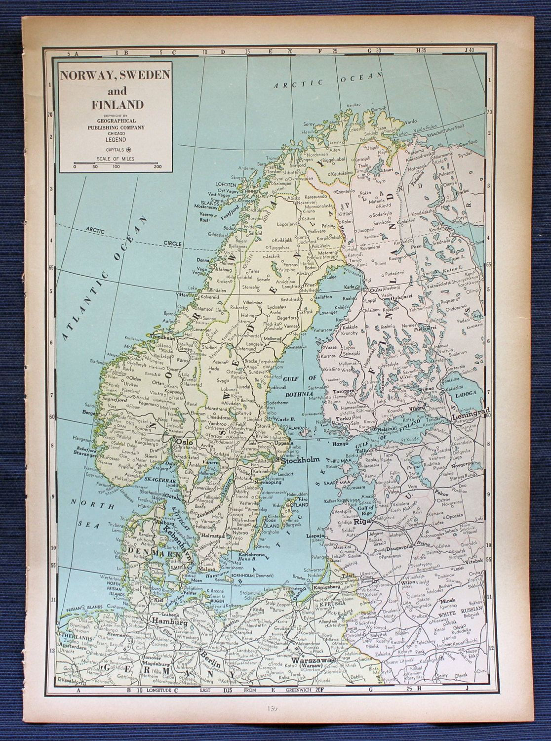 Norway sweden and finland or japan manchukuo chosen large map 1941 norway sweden and finland or japan manchukuo chosen large map gumiabroncs Gallery