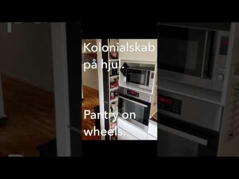 Sådan bygger du nemt et kolonialskab på hjul. DIY pantry on wheels (DK)