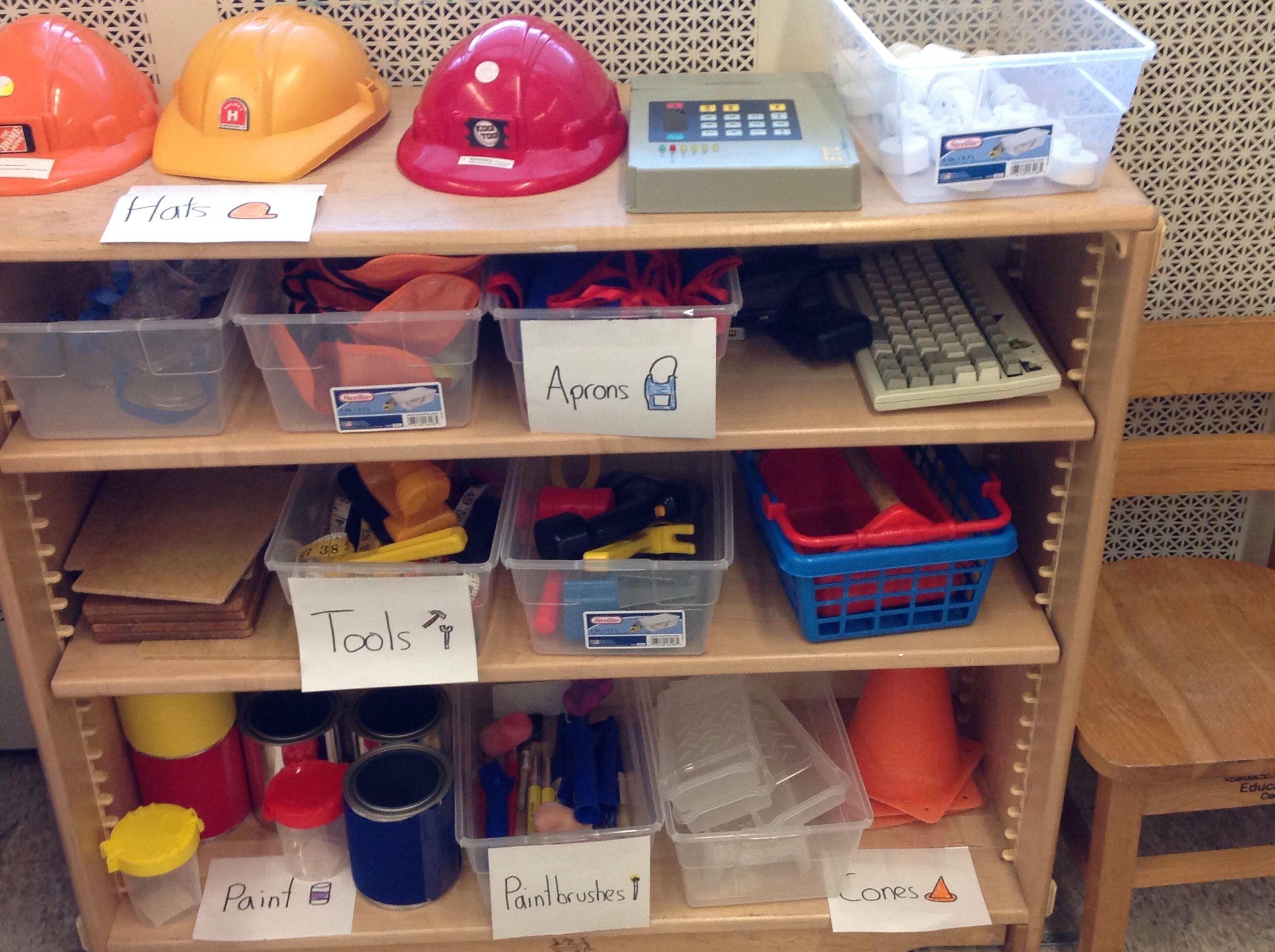 Classroom Improvement Ideas ~ Home improvement store in dramatic play preschool
