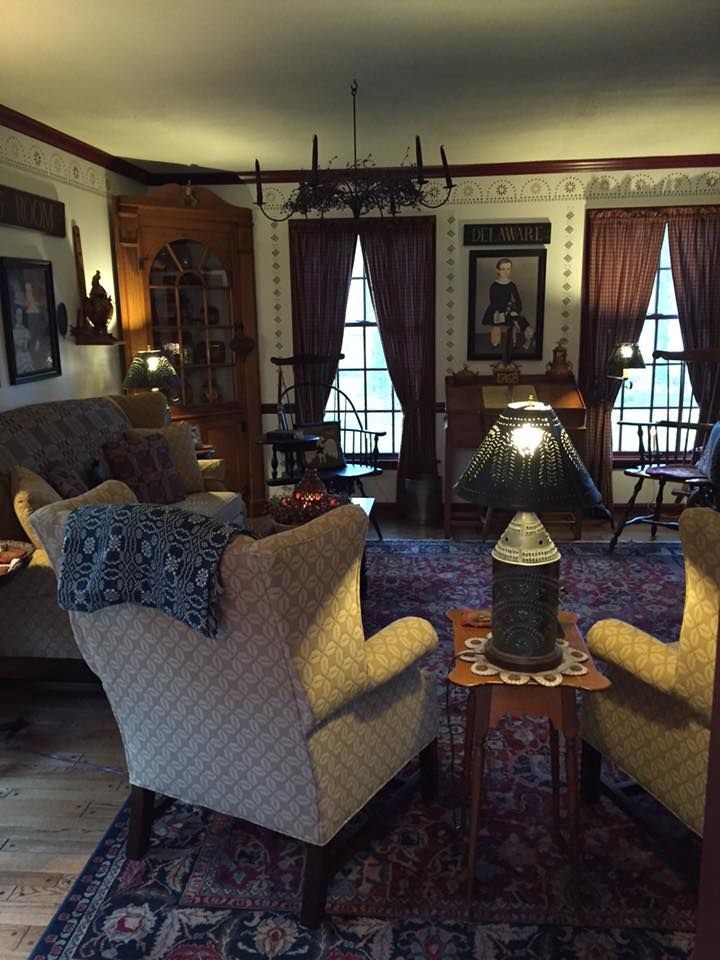 Primitive Country Living Room Decorating Ideas: Pin By Kathleen Joye On Colonial To Primitive