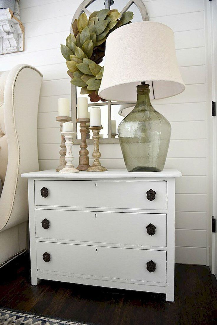 Farmhouse lighting ideas Bedroom night stands, Home