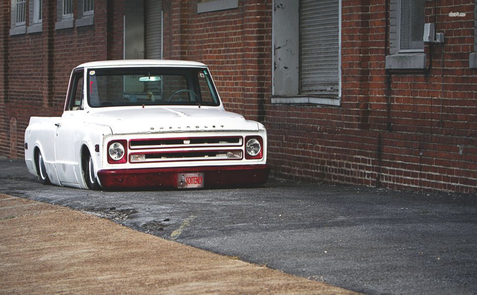 Slammed C10 Chevrolet Truck Hd Wallpaper With Images Chevy