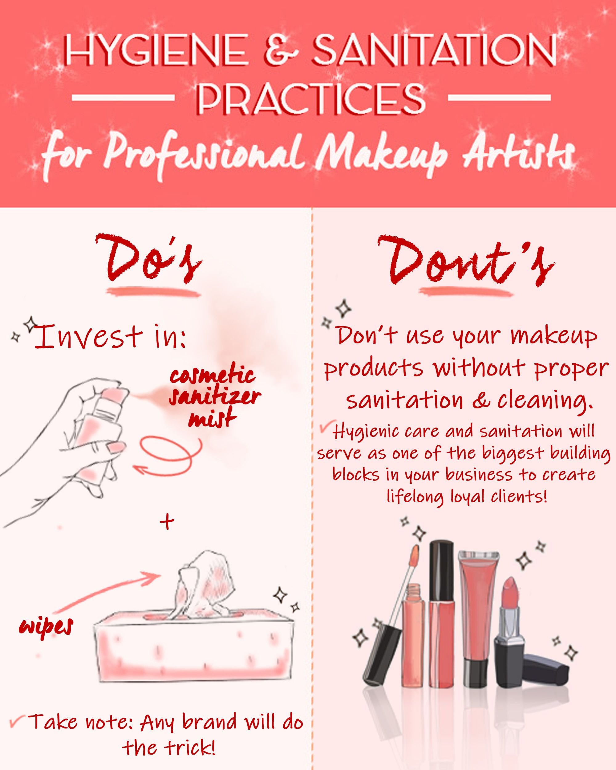 Hygiene Sanitation For Makeup Artists Makeup Artist Tips Online Makeup Makeup Artist Kit