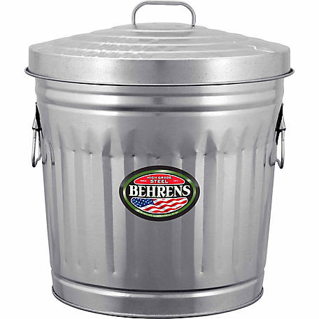 Behrens 10 Gallon Galvanized Steel Utility Trash Can At Tractor Supply Co In 2020 Trash Can Galvanized Steel Garbage Can