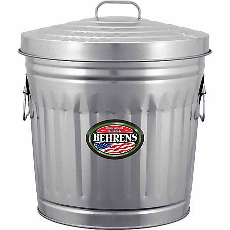 Behrens 10 Gallon Galvanized Steel Utility Trash Can 00105k At Tractor Supply Co Trash Can Galvanized Steel Kitchen Trash Cans 10 gallon trash can with lid