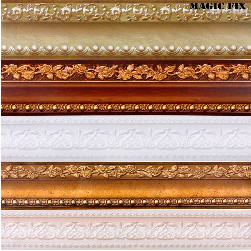 Tile Stickers Bathroom Picture More Detailed Picture About Pvc Self Adhesive Walls Decals Waterproof Waistline Wallpaper Rolls Skirting 3d Wall Paper Borders