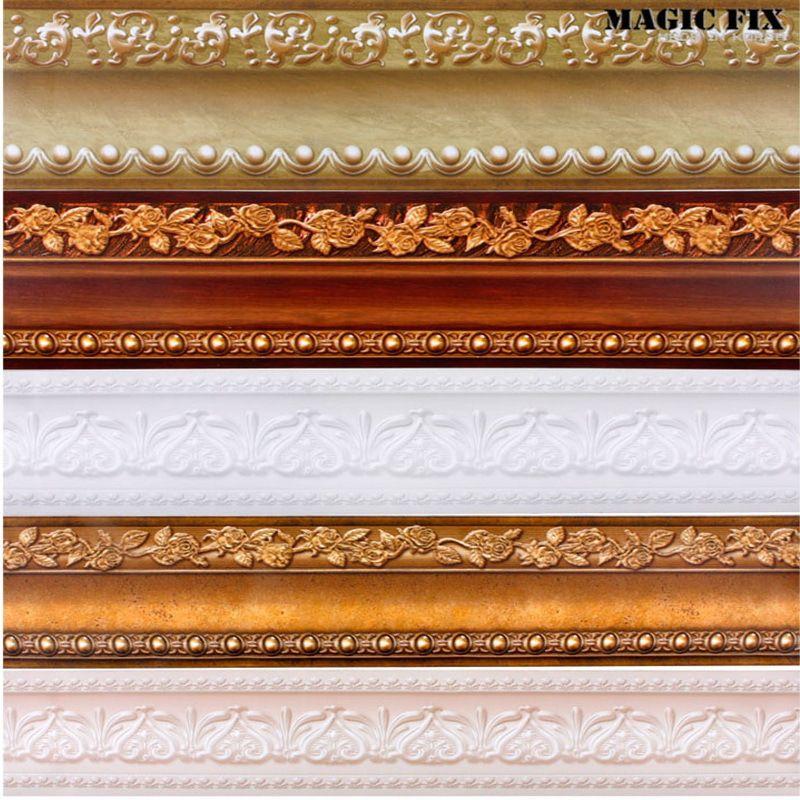 Classical Stickers Wall Vinyl Waterproof Waistline Self Adhesive Wallpaper Kitchen Bathroom Tiles Pvc Sticker Borders