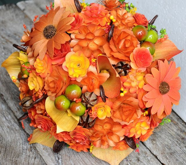 Как составить осенний букет из цветов