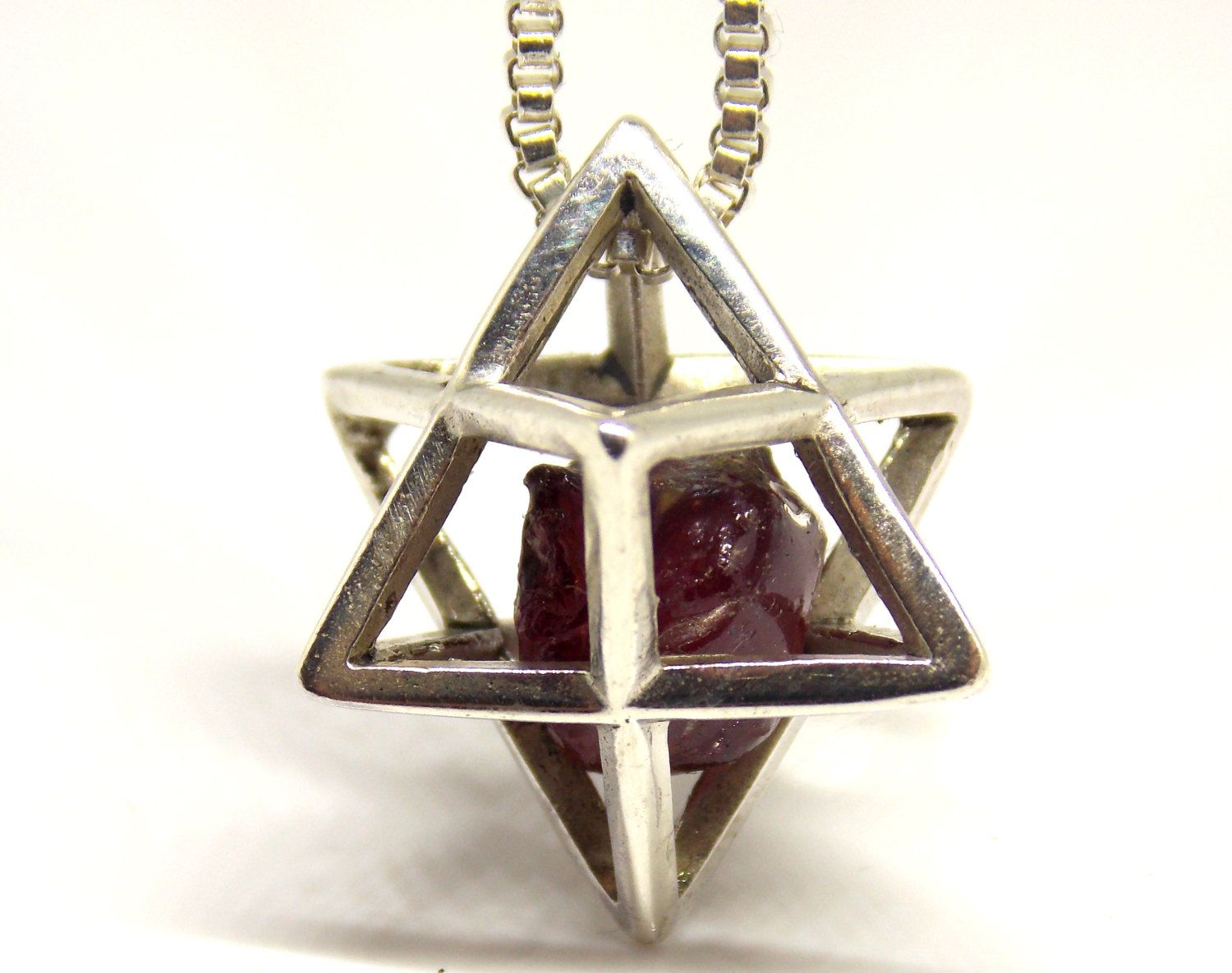 Big merkaba pendant with ruby stone from 925 sterling silver big merkaba pendant with ruby stone from 925 sterling silver unique merkaba pendant aloadofball Gallery