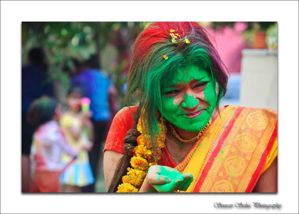 Photo from Holi festival ...