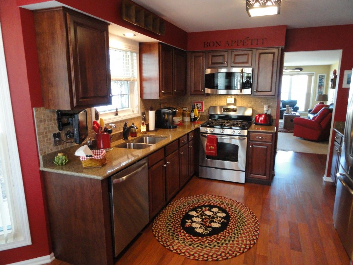 Thomasville Kitchen Cabinets Decoration Colors With Red