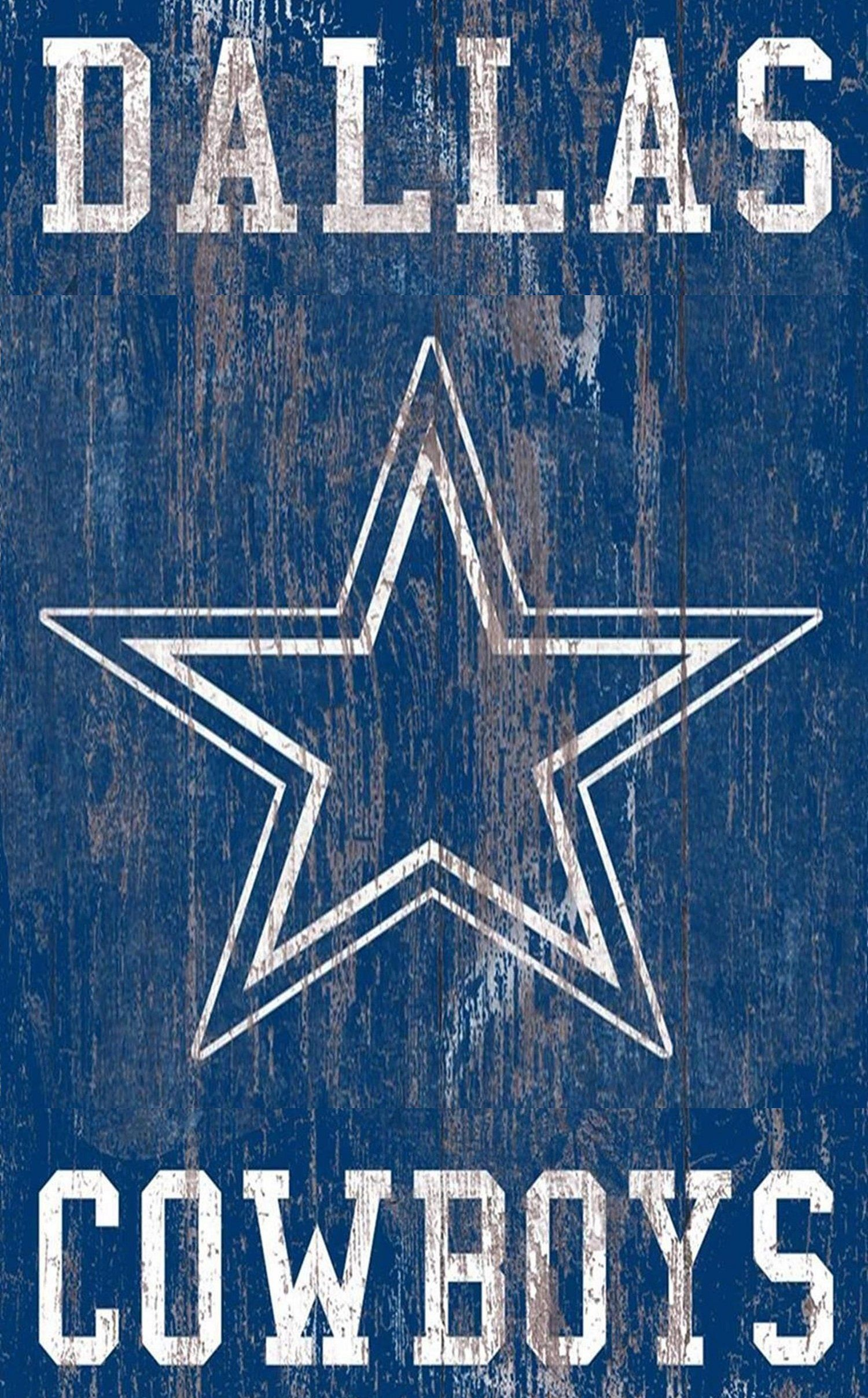 "Dallas Cowboys Distressed Logo 11""x19"" Wall Art Dallas"