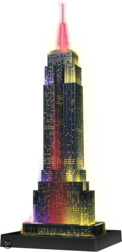 bol.com | Ravensburger 3D Puzzel Empire State Building Night Edition - 216 Stukjes,Ravensburger...:
