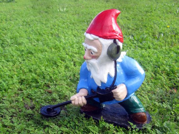 Garden Gnomes On Sale: Combat Garden Gnome Minesweeper With Metal Detector By