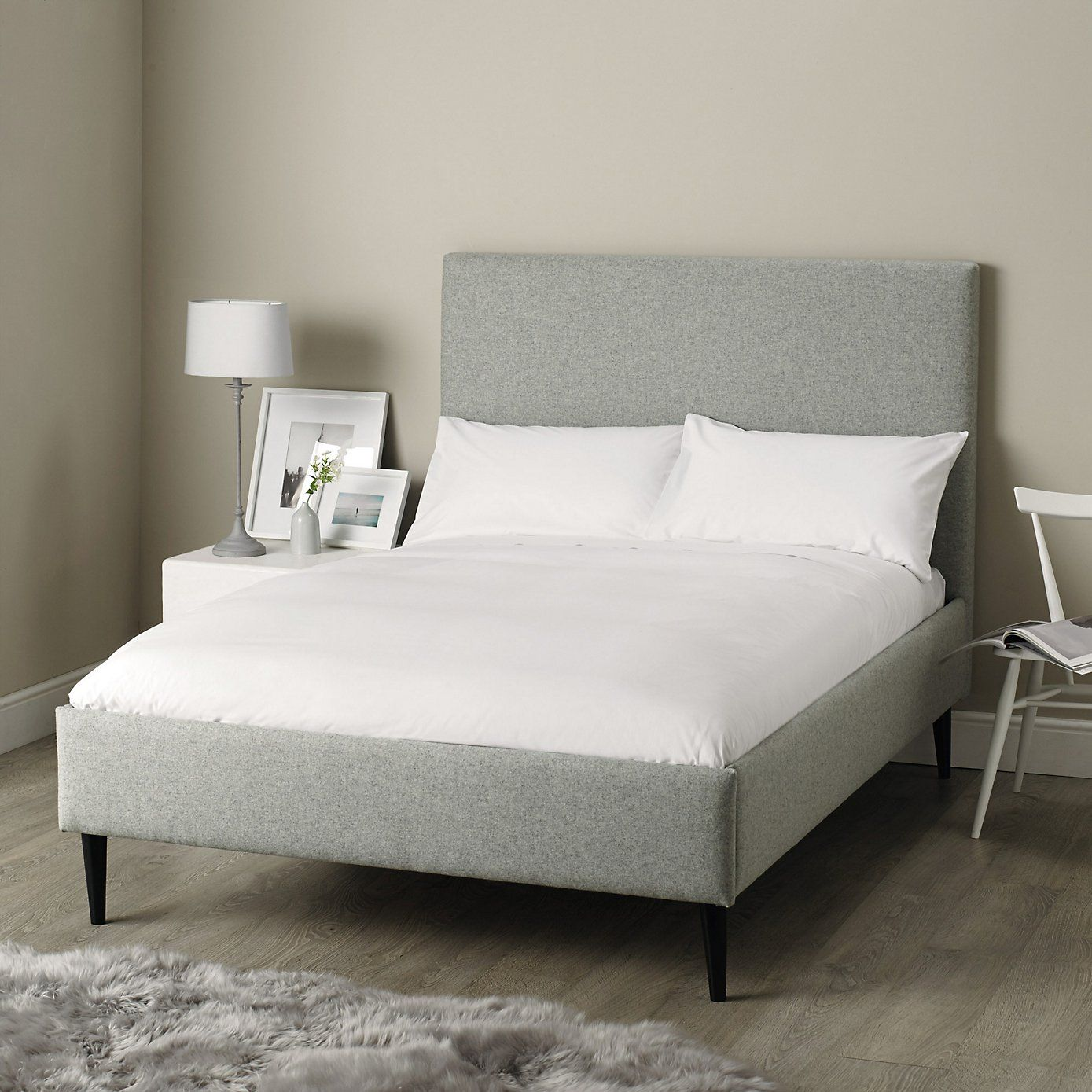 Dulwich bed light grey the white company interiors bedroom