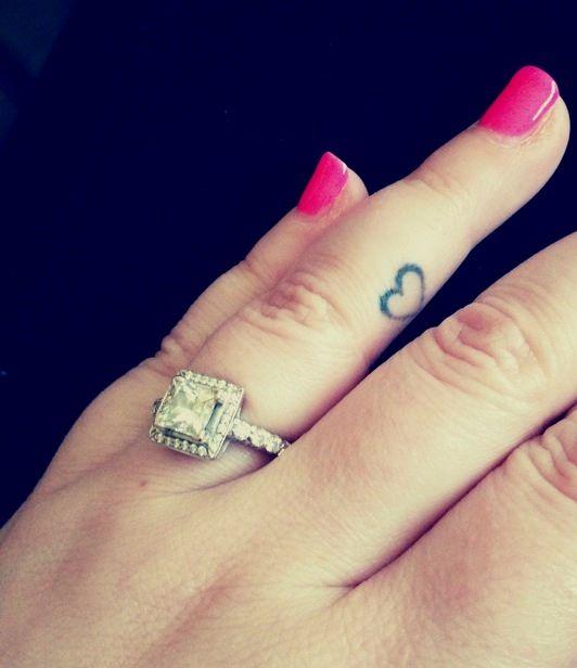 Ring Finger Heart Tattoos