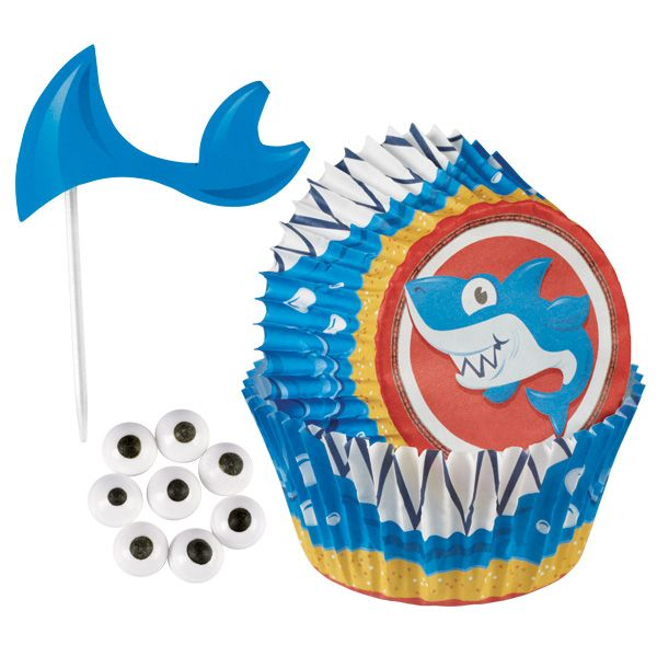 Shark Cupcake Decorating Kit Wilton 6th birthday Pinterest
