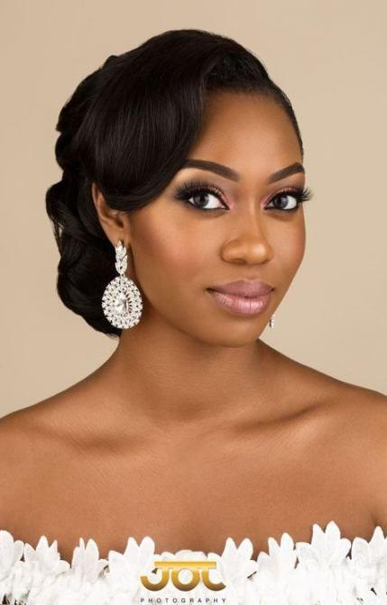 Trendy Wedding Hairstyles Bride Black Updo 16 Ideas Black Wedding Hairstyles Black Brides Hairstyles Black Bridal Makeup