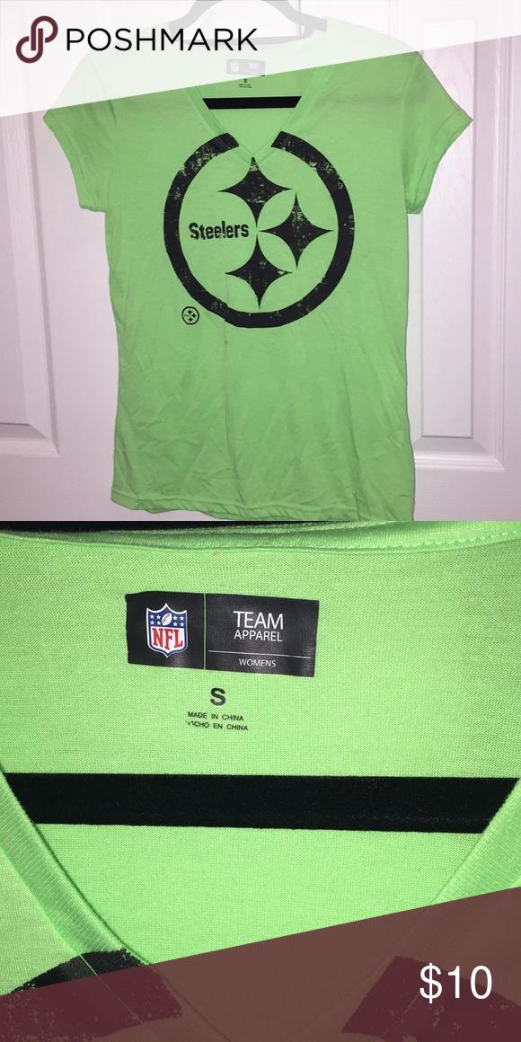 Steeler t shirt Lime green Steeler t shirt. Size small. Tops Tees - Short Sleeve