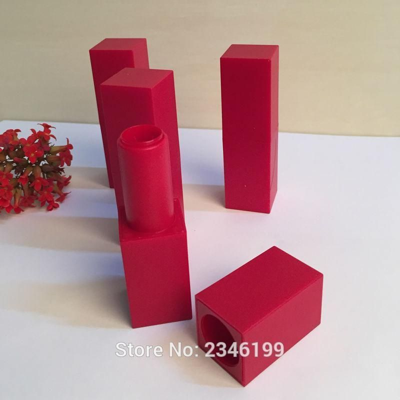 Photo of 40pcs/lot 12.1mm Empty Square Lipstick Tube, High-end Magnetic Lip Balm Containe…