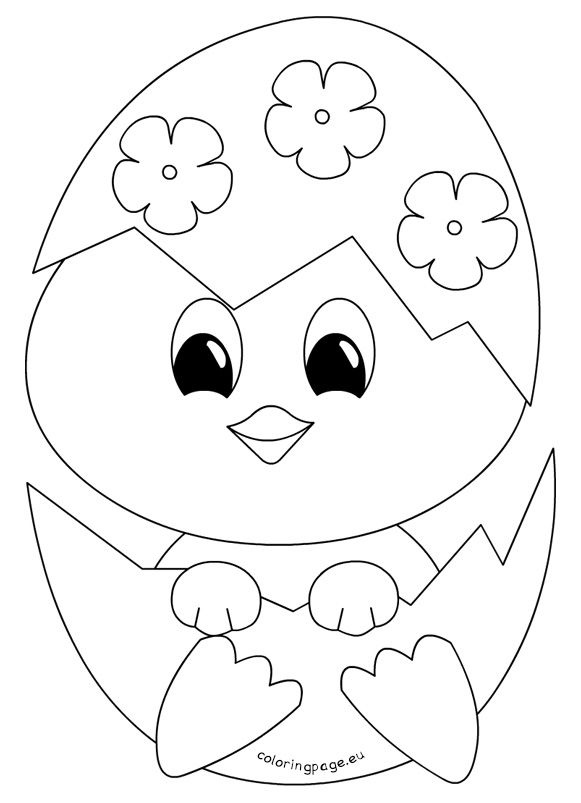 Easter Coloring Pages Baby Chicks | Bgcentrum