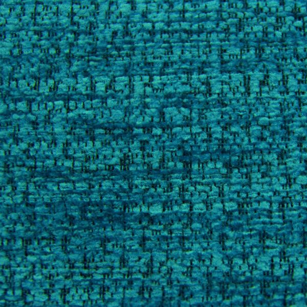 Portobello Boucle Textured Chenille in Turquoise: Upholstery ...