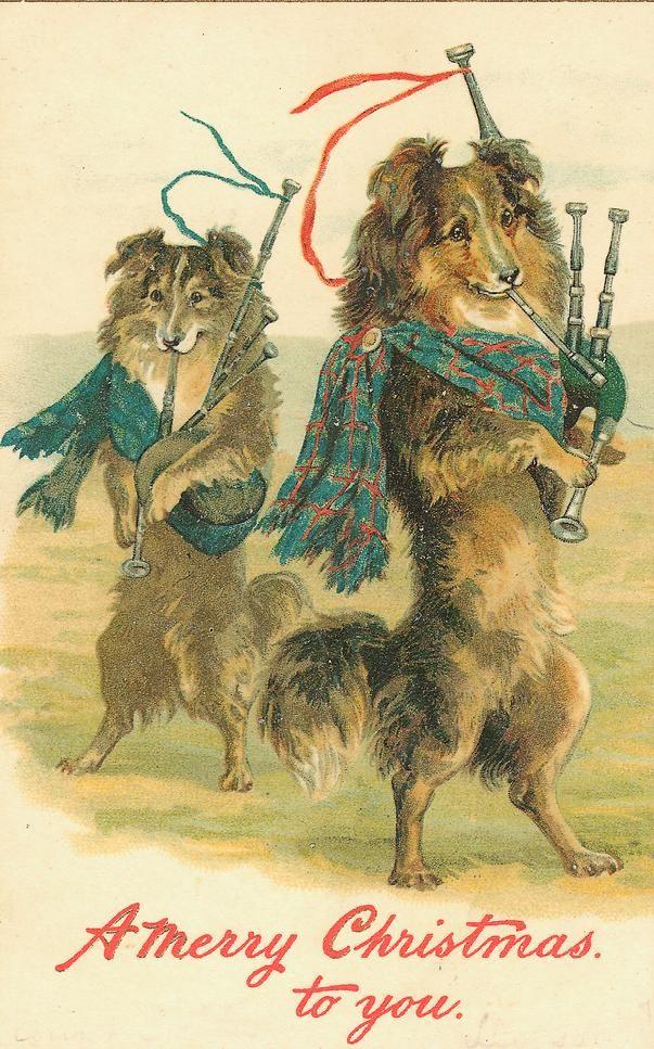 Free Vintage Animal Christmas Cards Vintage christmas