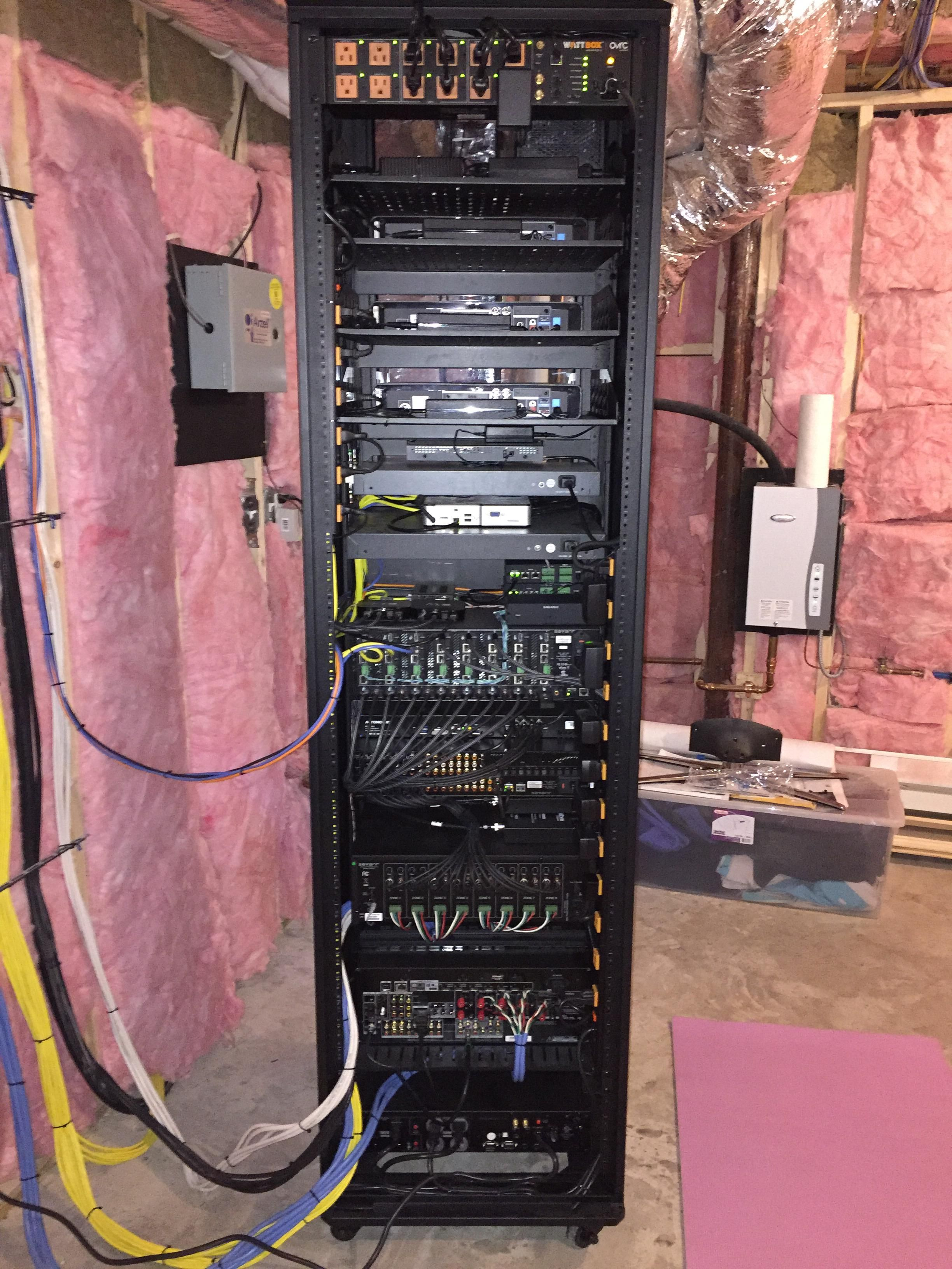 i finally finished setting up the network rack in our unfinished installing an av network rack in a newly constructed office this company obviously took their