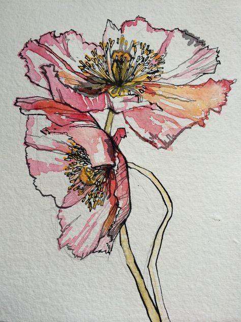 58+ Trendy Art Sketchbook Ideas Flowers Water Colors