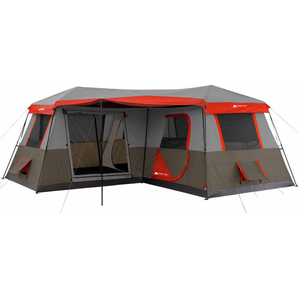 BRAND NEW Ozark Trail 12 Person 3 Room L-Shaped Instant Cabin Tent #OzarkTrail