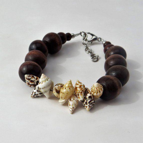 Beach Bracelet Summer Wood Bead