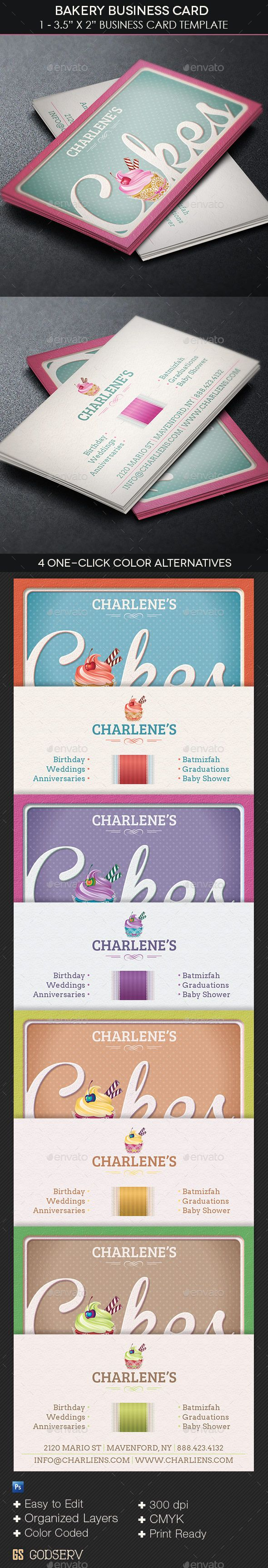 Sassy Customizable Cupcake Business Card Template This modern and