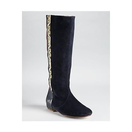 Belle by Sigerson Morrison Boots - Merlin Aztec Embroidered