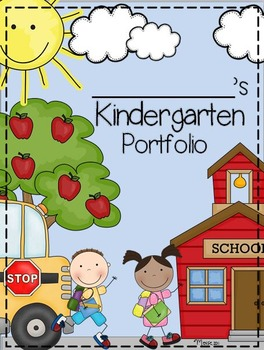 Kindergarten Portfolio And Memory Book Preschool Portfolio