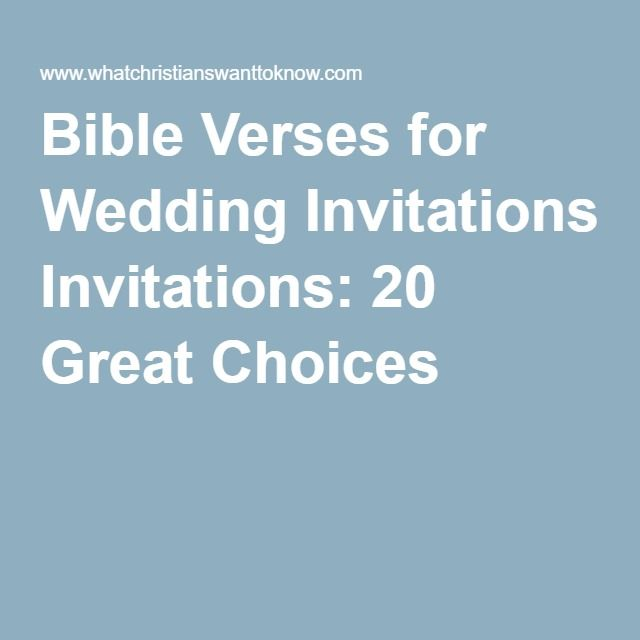 Bible verses for wedding invitations 20 great choices wedding bible verses for wedding invitations 20 great choices junglespirit Images