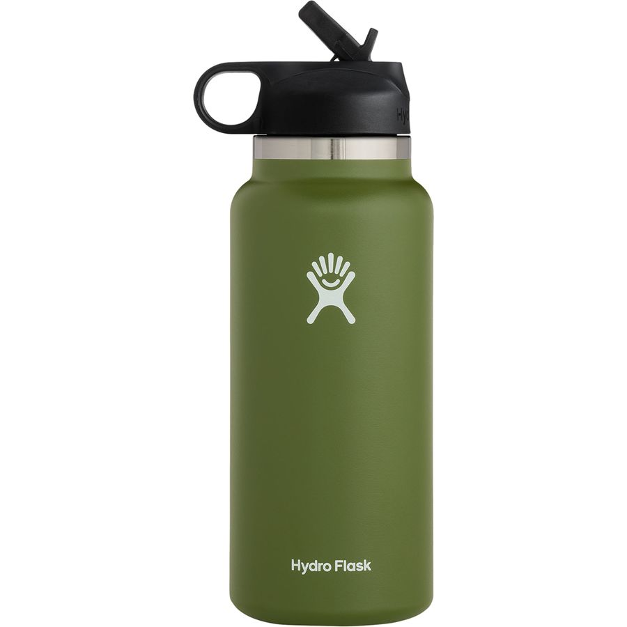 32oz Wide Mouth Water Bottle With Straw Lid 2 0 In 2021 Wide Mouth Water Bottle Water Bottle With Straw Hydroflask