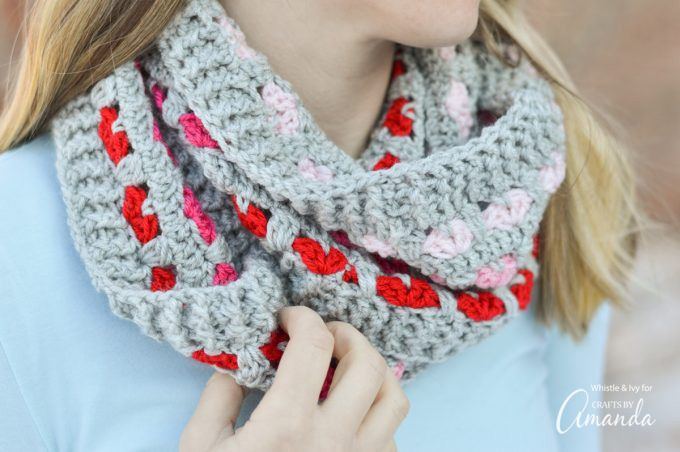 Adorable Puppy Love Infinity Scarf crochet pattern! There\'s nothing ...