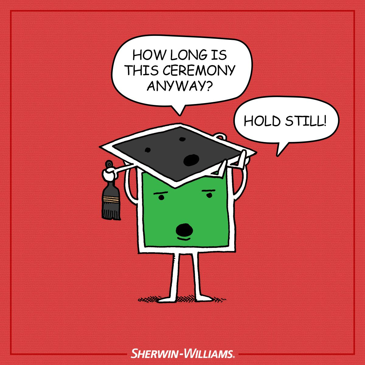 A graduation day Colortoon starring Sherwin-Williams paint colors ...