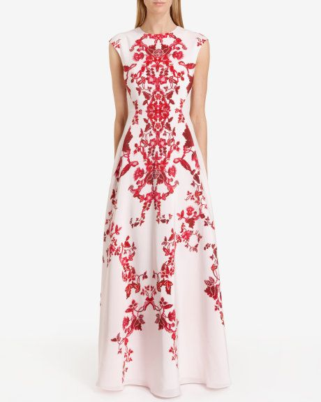 China red maxi dress - Nude Pink | Dresses | Ted Baker UK | Fashions ...