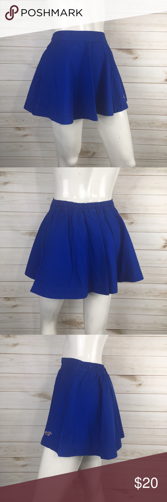 Hollister Blue Skater Circle Skirt Royal blue  Excellent condition   Size small Hollister Skirts Circle & Skater