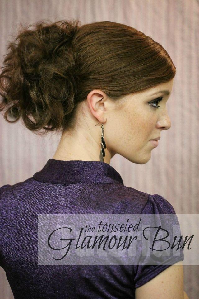 The Freckled Fox : Holiday Hair Week - Tutorial #1: Touseled Glam Bun
