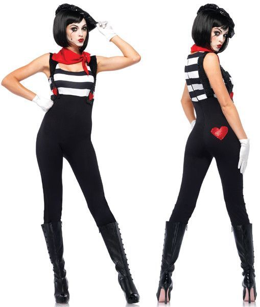 marvelous mime women 39 s costume outfits pinterest. Black Bedroom Furniture Sets. Home Design Ideas