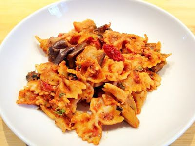 Jenny's Cookbook: One Pot Pasta with Mushrooms & Eggplant (Vegan)