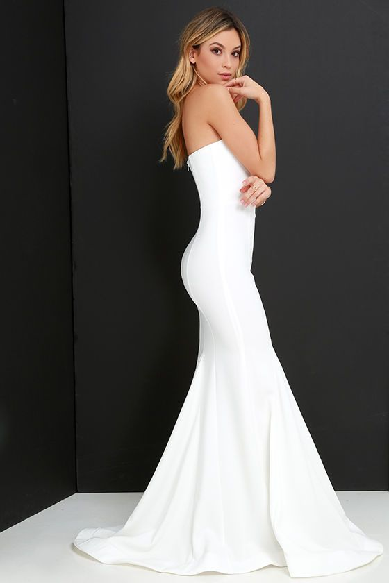 Sorella Ivory Strapless Maxi Dress  Follow me Shape and Mermaids