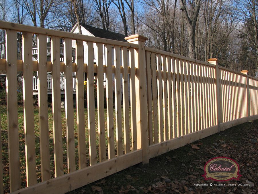 Open Spaced Picket Colonial Fence Co Norfolk Ma Colonial