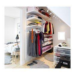 Cute ALGOT Wandschiene B den Stange IKEA AnkleidezimmerKleiderschrank SchlafzimmerSanierungRenovierungAufteilungDachgeschossDachbodenKinderzimmer